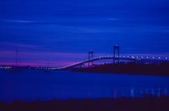 日出在纽波特,罗德岛州 库存图片