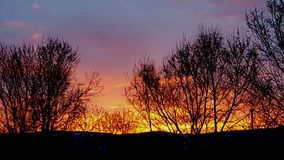 日出在蒙大拿 免版税库存照片