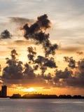 日出在迈阿密海滩 免版税库存照片