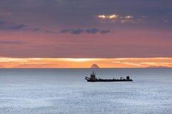 日出在陶朗阿,新西兰 库存图片