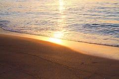 日出在马略卡 库存图片