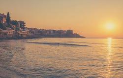 日出在索佐波尔,保加利亚 免版税库存图片