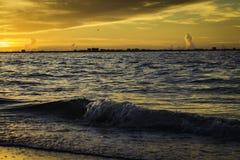 日出在Sanibel海岛 库存照片