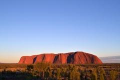 日出在Uluru 免版税库存图片