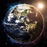 日出地球 免版税图库摄影