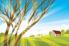 日出夏天或春天风景 免版税库存图片