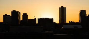 日出大厦街市城市地平线诺克斯维尔田纳西单位 库存图片