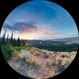 日出大蒂顿国家公园 免版税库存照片