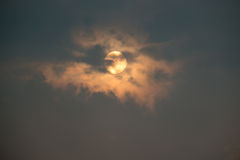 日出天空和云彩 免版税库存图片
