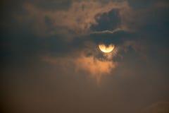 日出天空和云彩 免版税库存照片