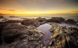 日出岩石,南非 免版税库存图片