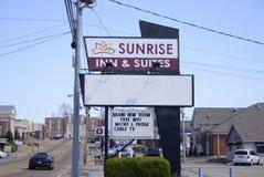 日出旅馆和随员汽车旅馆,布朗斯维尔,田纳西 免版税库存图片