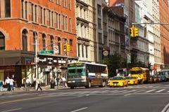 日出早期街市的曼哈顿 图库摄影
