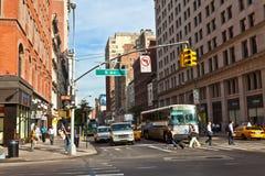 日出早期街市的曼哈顿 免版税库存照片