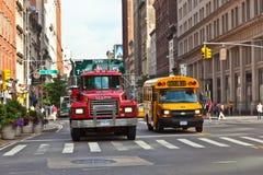 日出早期街市的曼哈顿 免版税图库摄影