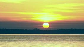 日出时间间隔在水表面的在黎明 股票视频