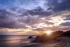 日出海滩视图Samila 免版税库存图片