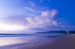 日出海滩 库存照片