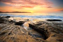 日出珍珠海滩澳大利亚 免版税库存照片