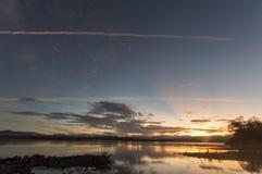 日出的卡拉扬Ilocano河 免版税库存照片