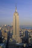 日出的帝国大厦,纽约, NY 库存照片