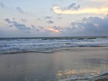 日出的弗吉尼亚海滩 免版税库存图片
