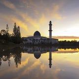 日出的清真寺 库存图片