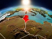 日出的突尼斯从轨道 向量例证