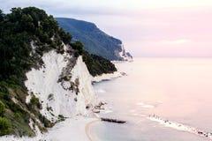 日出的, 3月,意大利Monte Conero 免版税库存图片