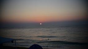 日出的Timelapse录影在罗马尼亚的海边的 影视素材