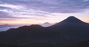日出英尺长度时间间隔从Dieng高原的 股票视频