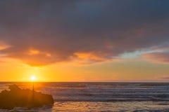 日出萨姆纳海滩 免版税库存图片
