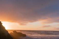 日出萨姆纳海滩 免版税库存照片