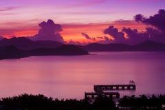 日出萨尼亚海南瓷 库存照片