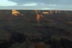 日出,大峡谷聚焦  免版税图库摄影