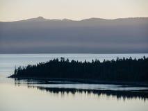 日出,太浩湖 库存图片