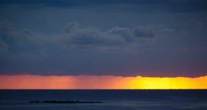 日出,安地比斯,法国 免版税库存图片