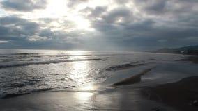 日出,黑海海岸波浪,土耳其6月2016年, 影视素材