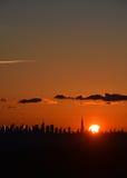 日出, NYC,从NJ 免版税库存图片