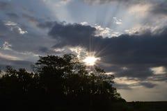 日出/日落在坎萨斯城,密苏里 库存照片