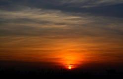 日出黎明早晨视图风景 库存照片