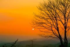 日出-黎明,日落,天空,山,黎明 库存图片
