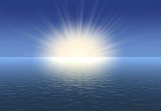 日出 向量例证