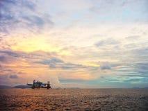 日出Mabul海岛 图库摄影