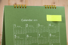 日历与几天和日期 免版税图库摄影