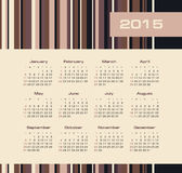 日历与种族分界线的2015年 免版税库存图片
