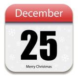 日历圣诞节日期 免版税库存照片