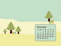日历圣诞节 库存例证