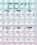 日历在2014年 库存照片