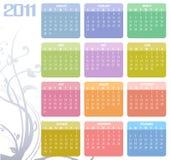 日历在2011年 皇族释放例证